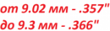 """Пули от 9.02 мм/.357"""" до 9.3 мм/.366"""""""